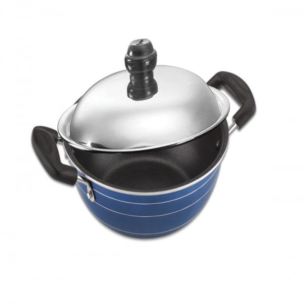 KADAI WITH S.S LID - AVAILABLE SIZES 220 MM, 240 MM, 260 MM, 280 MM